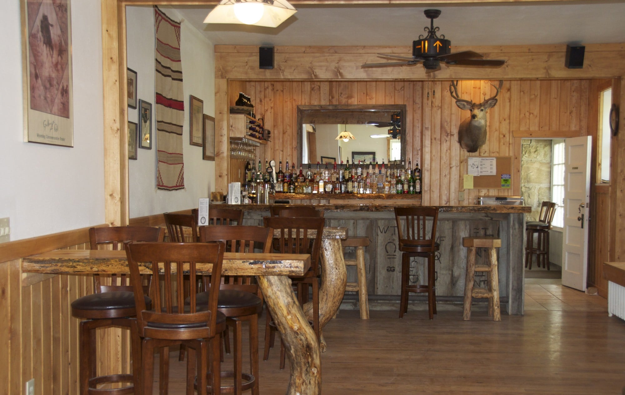 Western Saloon: The Apartment Bar - Eatons\' Ranch (Wolf, Wyoming)