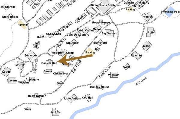 Daniels Den Cabin on map