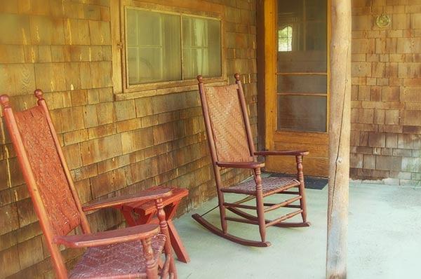 Duncan Cabin porch