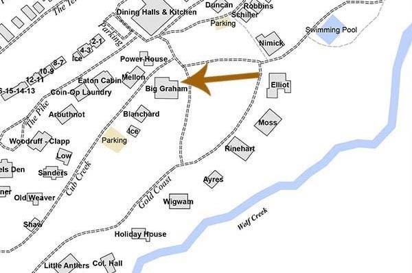 Big Graham Cabin map