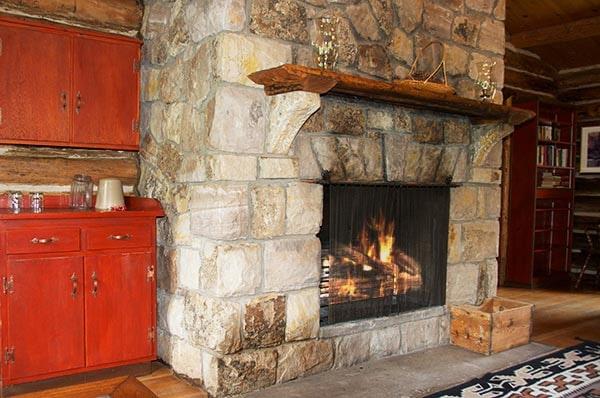 Lodge Cabin fireplace