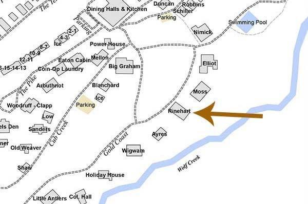 Rinehart cabin map