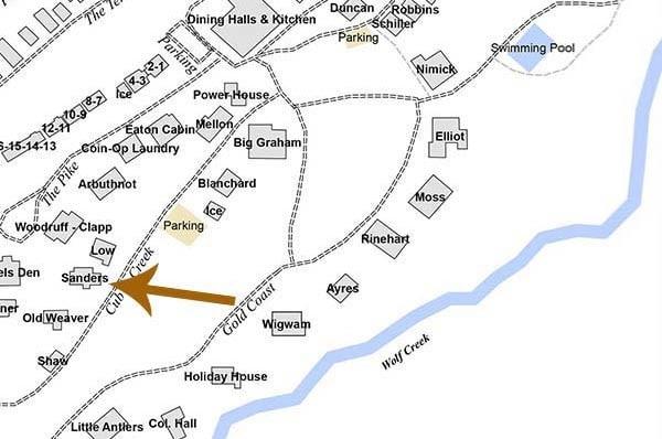 Sanders Cabin on map