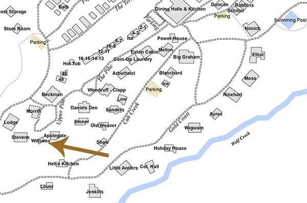 Map of William's Cabin