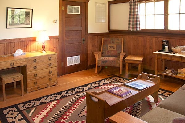 Morrill Cabin living room