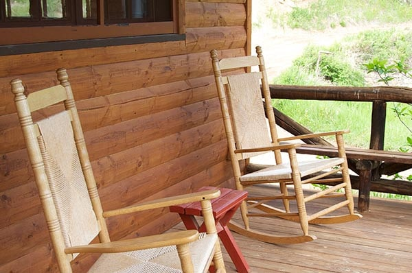 Morrill Cabin porch