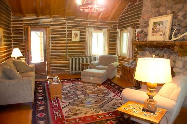 Moss Cabin living room