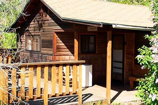 Sanders cabin exterior