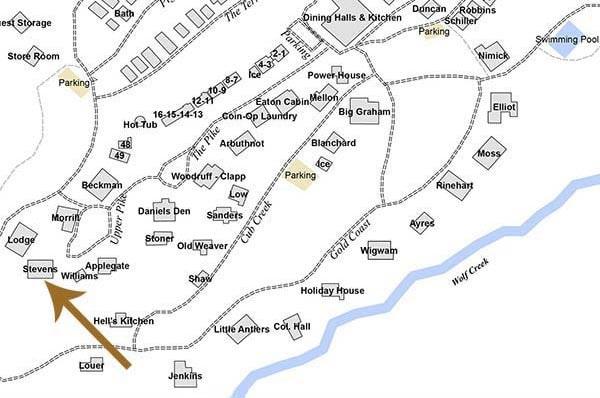 Steven's Cabin Map