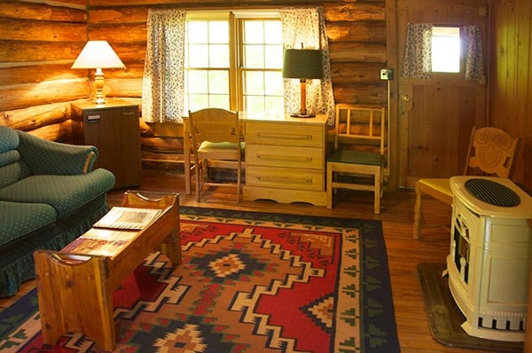 Toyland Cabin sitting area
