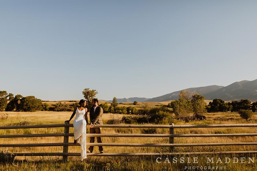 Bride and Groom at Eatons Ranch