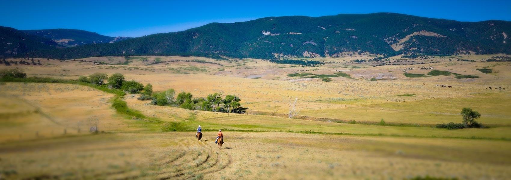 horseback riding at Eatons' Ranch