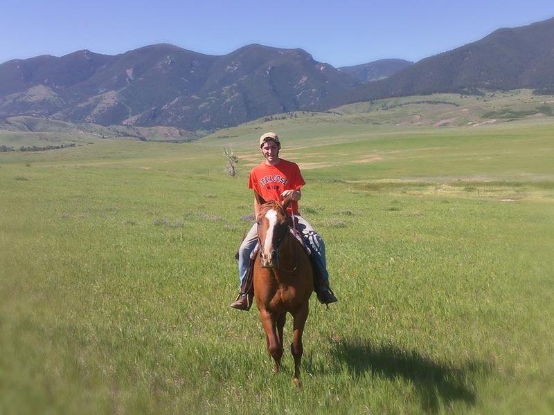 teen Horseback Riding in Wyoming