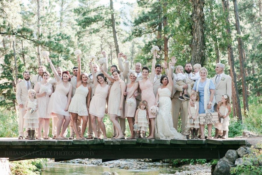 Wedding party on Bridge