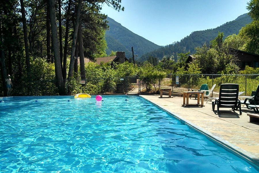 Wyoming summer vacation swimming pool