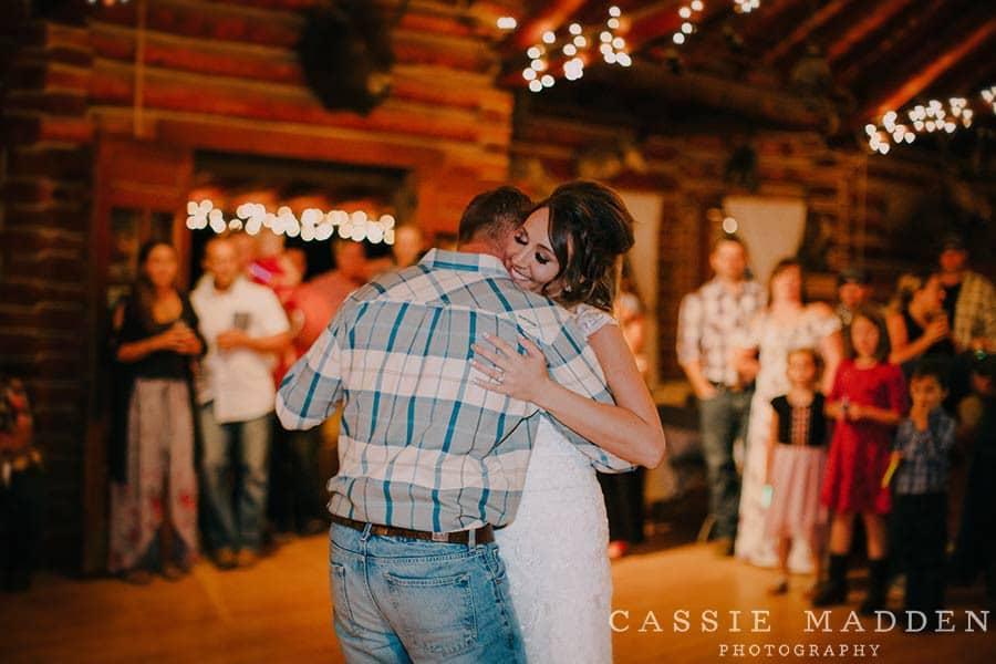 Sheridan WY Wedding Venues: bride and groom dancing
