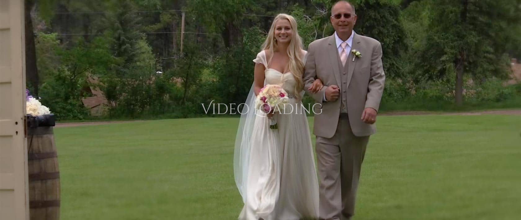 video loading wedding page