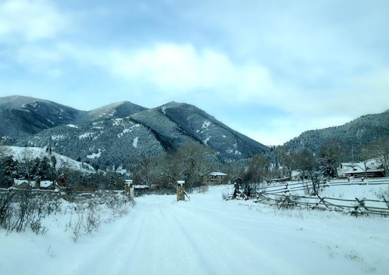 Bighorn Mountains Bed and Breakfast in Winter
